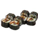 Futomaki de atún, pepino, lechuga y salsa picante kimuchi (pack 8 unidades)