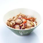 Yakiudón con pollo y verduras