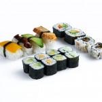 Sushi variado vegetariano 16 piezas