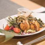 Takoyaki: Cuatro bolas de pulpo fritas