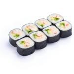 Futomaki de langostino, aguacate, lechuga y mayonesa  (pack 8 unidades)
