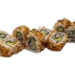 California roll: Surimi, aguacate, pepino, tobiko naranja y sésamo (pack de 8 unidades)