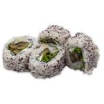 Seta shiitake marinada, rúcula, queso cremoso y furikake yukari (pack de 4 unidades)