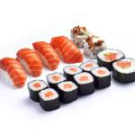 Sushi variado salmón 16 piezas